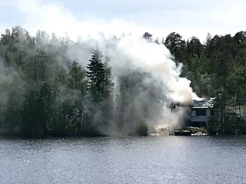 Huvilassa syttyi tulipalo Pietarsaaressa.