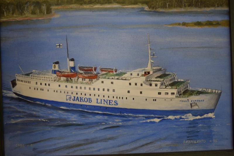 Fenno Express, maalaus O.K. Kivilehto.