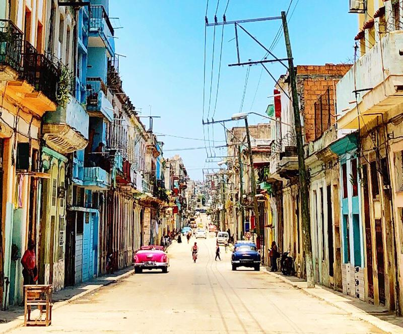 Sympaattinen katu Havannassa.