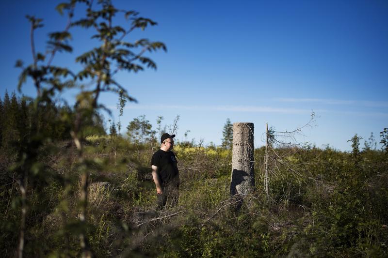 Kälviäläinen metsänomistaja Markku Pajala ei usko suunnitellun hiilipörssin toimivan.