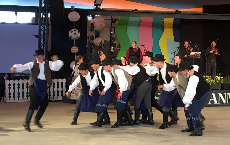 Transsilvanian ryhmä näytti paikallisen mustalaistanssin mallia.