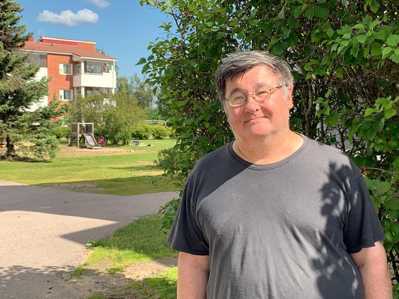 Reino Marjakangas muutti Raudaskylästä asumaan Ylivieskan keskustaan muutama vuosi sitten.