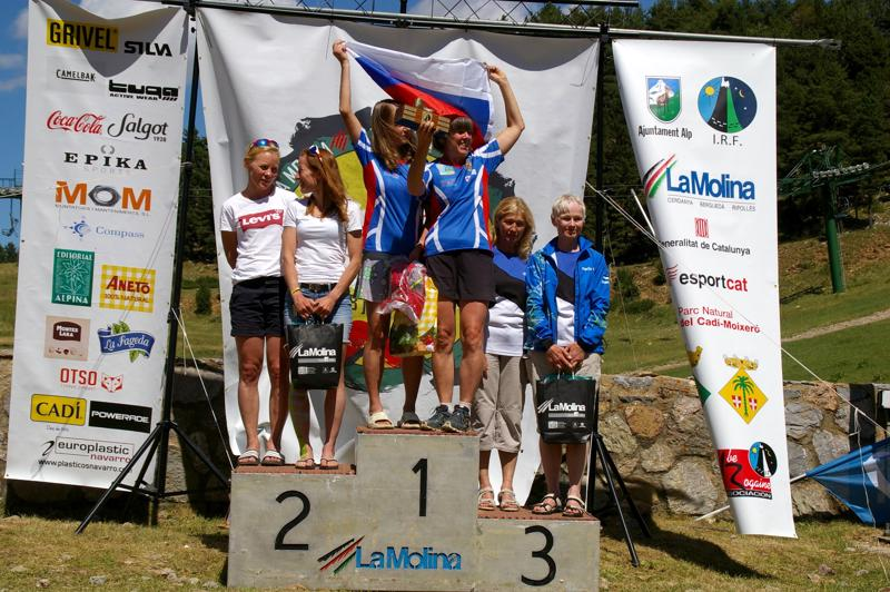 Tanja Rannila (vas.) ja Anne Polso sijoittuivat hopealle rogainingin naisten veteraanisarjassa.