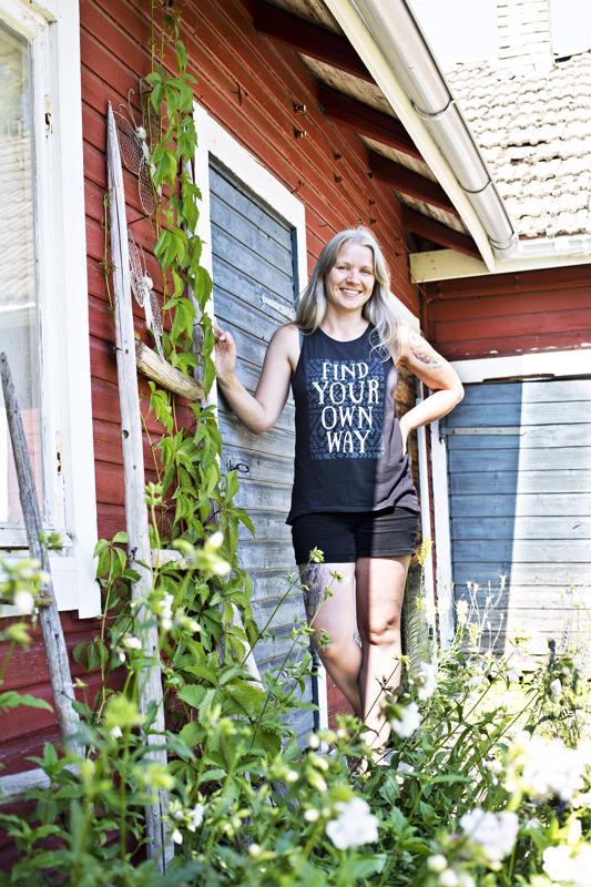 Tiina Hobbs lomaili pari viikkoa Kalajoella. Hänestä mikään ei voita Kalajokea kesällä.