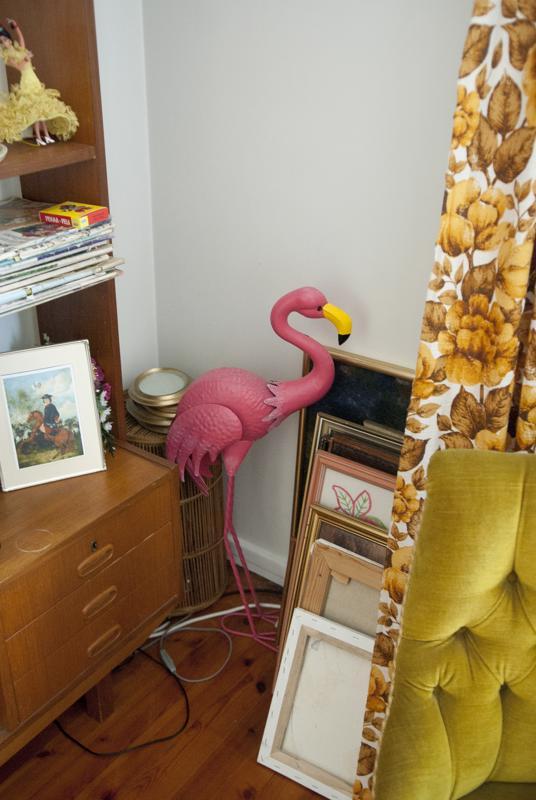 Kallioinen on asunut Arizonassa. Lidlistä ostettu pinkki flamingo edustaa hänelle Yhdysvaltojen 50-luvun estetiikkaa.