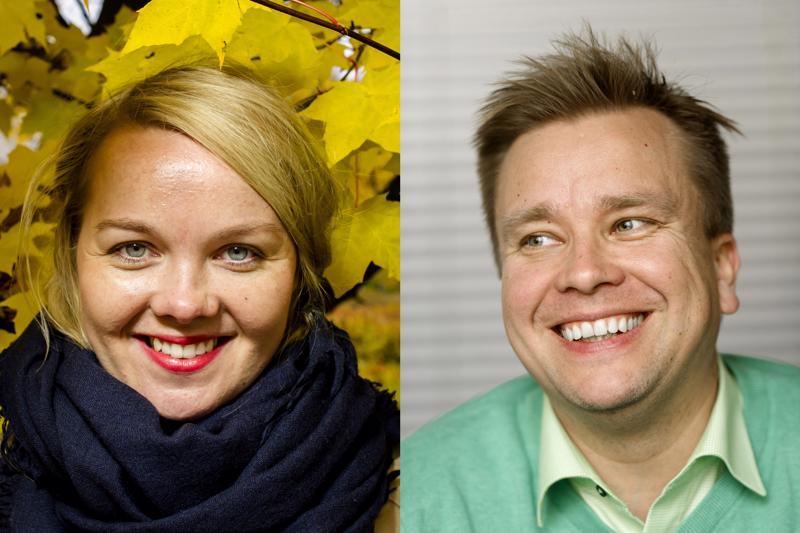 K-linja voittoon... Katri Kulmuni ja Antti Kaikkonen kisaavat keskustan puheenjohtajuudesta.