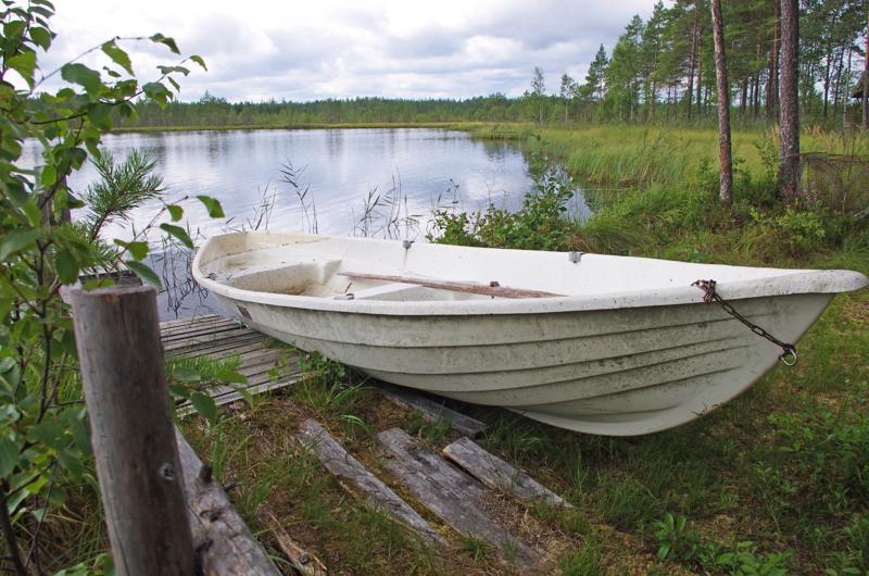 Iso-Lehtosen järvi on Nivalaa, joka on Haapajärven puolella.