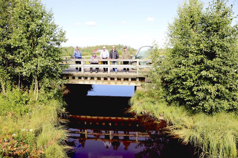 Heikki Puskala, Kauno Klemola, Tapani Hanhisalo, Jorma Hautamäki ja Pekka Lindholm kokoontuvat Hanhisalon siltaparlamentin istunnoissa säännöllisesti. Uuden sillan rinnalle jätetty vuonna 1960 valmistunut silta toimii kyläläisten tapaamispaikkana.