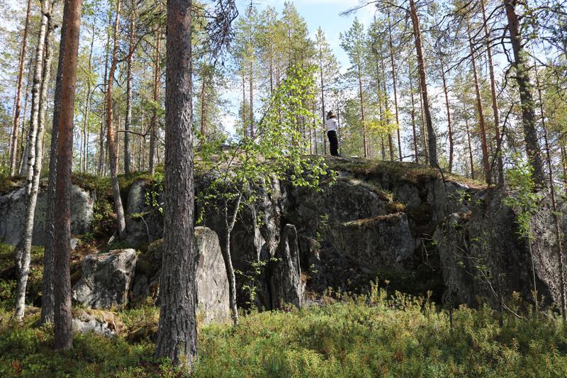 Kainuunkallioilta löytyvä niin kutsuttu Sonninputous on noin 3-4 metriä korkea jyrkänne.