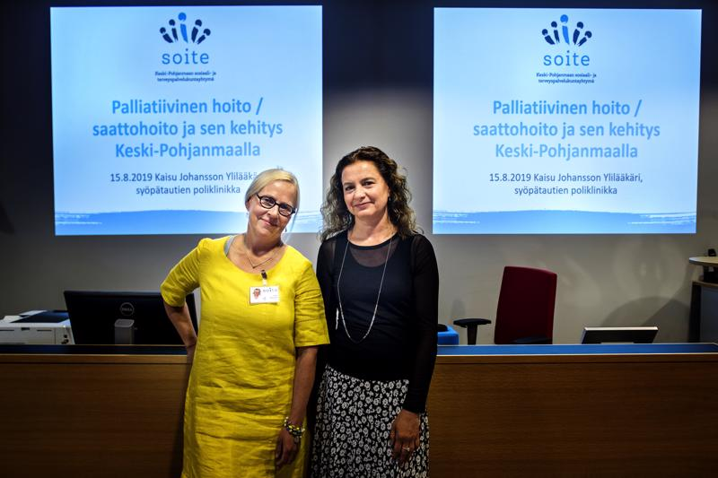 Kaisu Johansson ja Marilena Saukkosaari kertovat, että kuolemasta on tärkeää keskustella terveydenhoidossa.