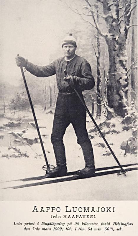 Aappo Luomajoen kerrotaan hankkineen hiihtokuntonsa metsästysmatkoilta.