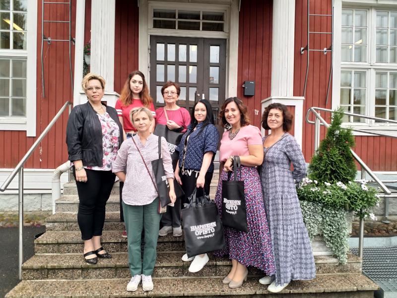 Belomorskin vieraat tutustuivat muun muassa Haapaveden Opiston toimintaan.