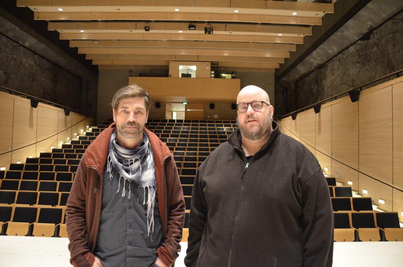 Ville Ojanen ja Aku-Petteri Pahkamäki ovat tehneet Kaustinen-saliin jo muutaman produktion yhdessä.