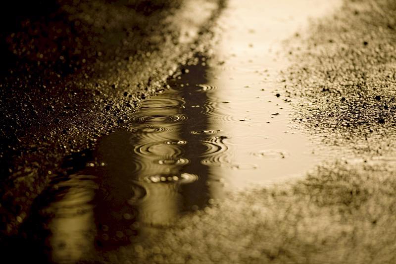 Keski-Pohjanmaalla tihuttaa vettä koko päivän.