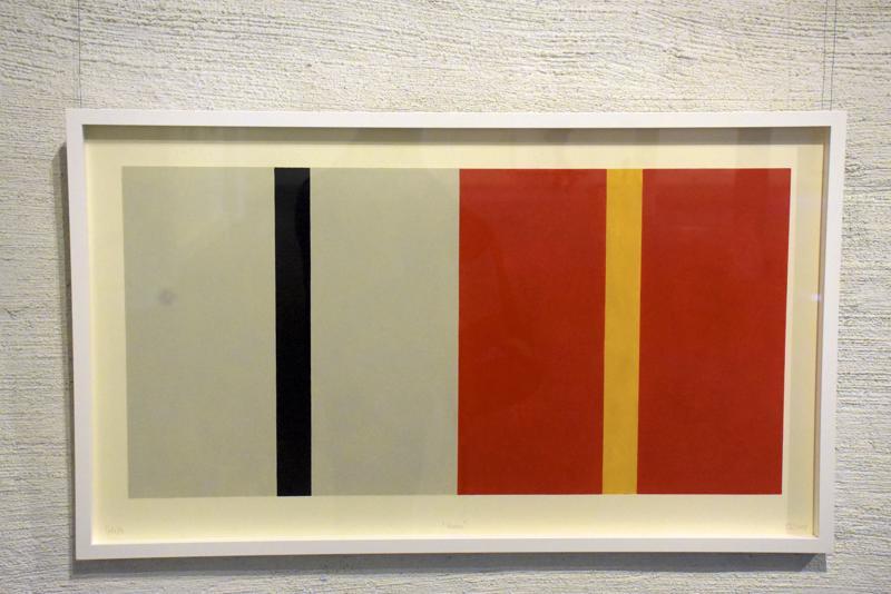 Värit ja geometriat ovat taiteilijalle tärkeitä.