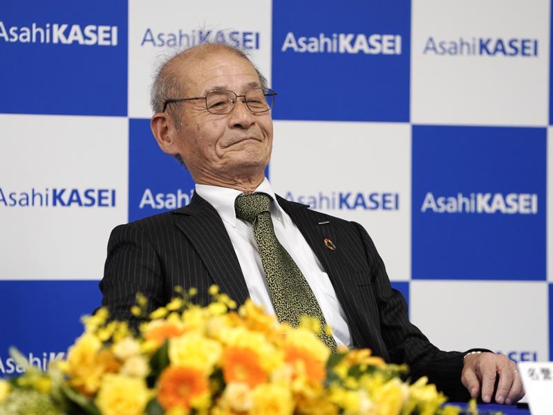 Japanilainen kemisti Akira Yoshino on yksi kolmesta Kemian Nobelilla palkitusta.