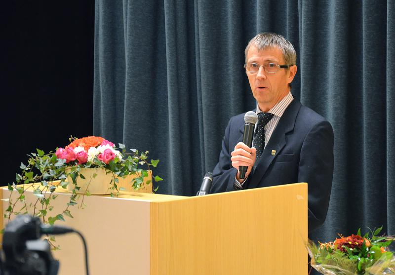 Sievin kunnanjohtaja Mauno Ranto avasi Kallion alueen vanhusten viikon pääjuhlan pohtimalla varautumista vanhuuteen.