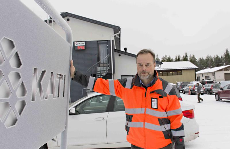 Kati Oy:n toimitusjohtaja Markku Ojala kertoo yrityksen kasvaneen tasaisesti viime vuosina.