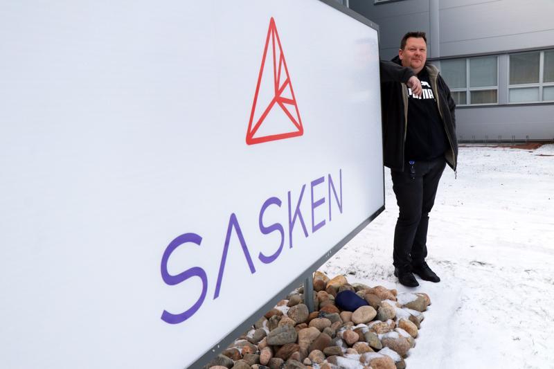 Sasken Finlandin toimitusjohtaja Toni Varila on tyytyväinen yrityksen yli miljoonan euron tulokseen.