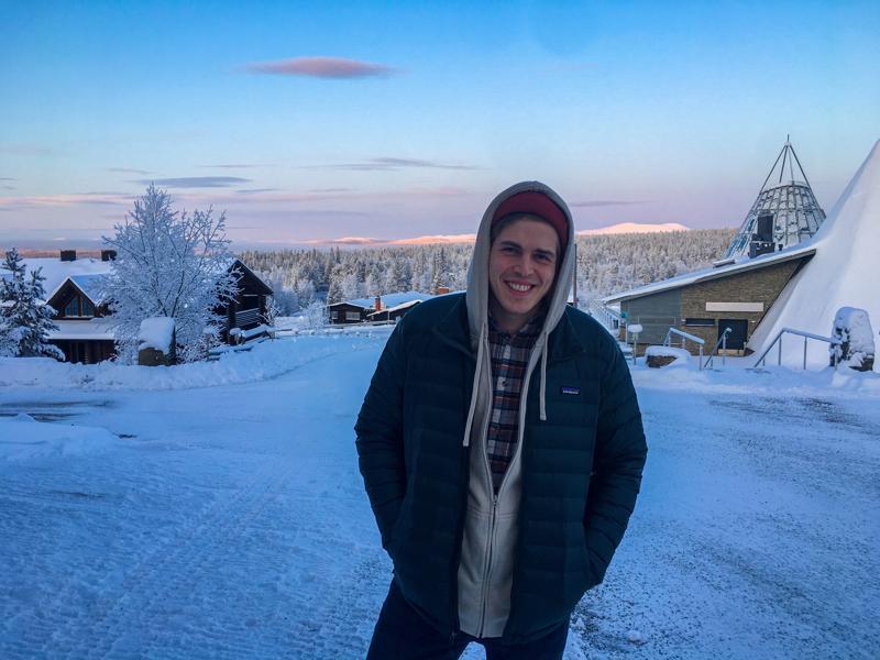 Antti Salli nauttii luonnossa liikkumisesta ja Lappi tarjoaa siihen komeat puitteet.
