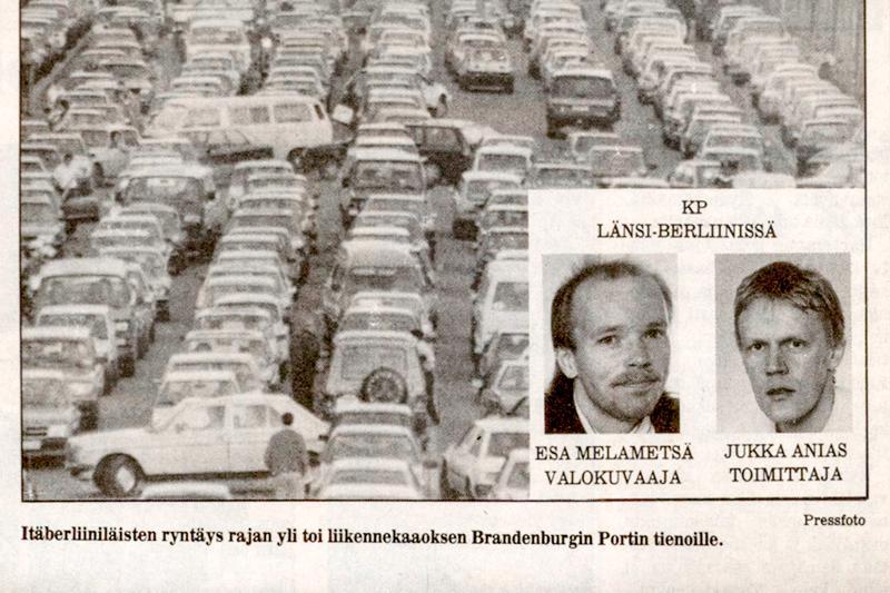 Keskipohjanmaan kaksikko oli juttumatkalla hieman ydinlevikkialueen ulkopuolella marraskuussa 1989.