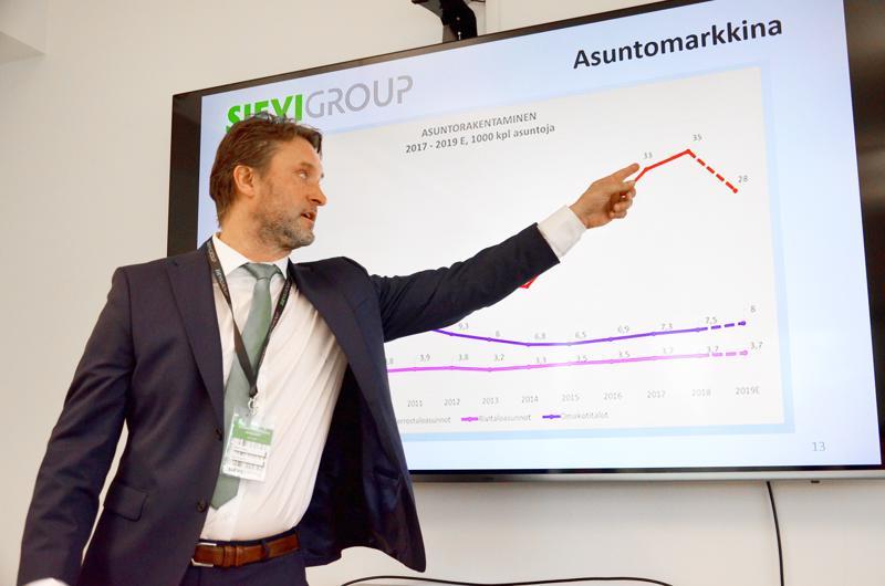 Sievi Groupin toimitusjohtaja Jaakko Tokola toivoo, että kaavoituksen esteet poistuvat kunnissa uudenlaisen asuntoyhtiötyypin tieltä.