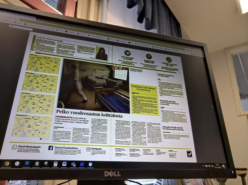 Perhonjokilaakson näköislehti on luettavissa näyttöpäätteeltä, tabletista ja puhelimella.