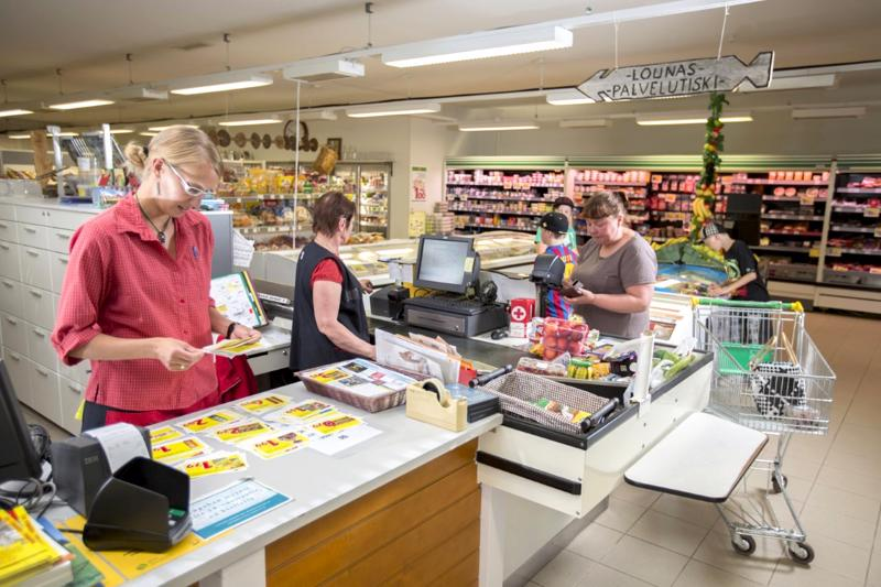 M-market Lukkari oli toinen kyläkauppatukea hakeneista kaupoista.