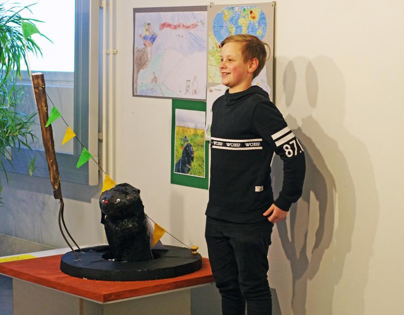 Jimi Saukonojan työ on Poimuajo. Idea lähti liikkeelle ulkoilusta oman koiran kanssa.