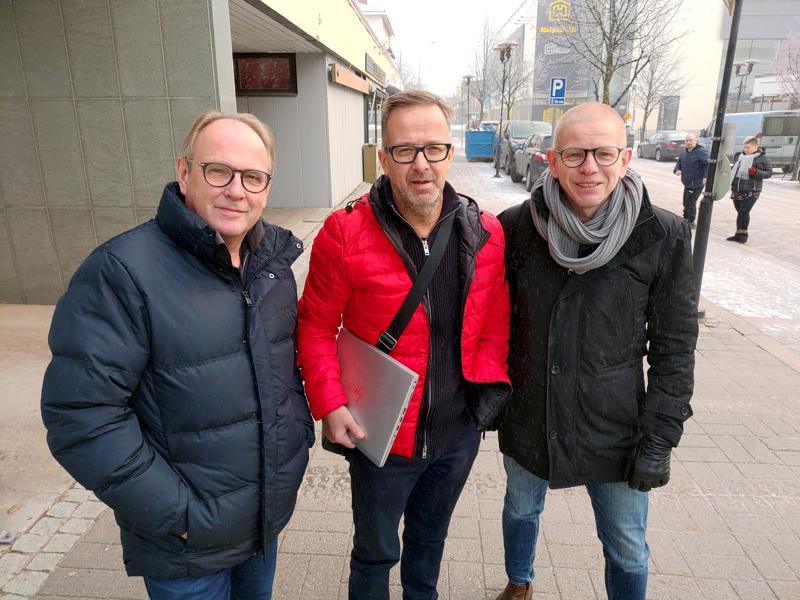 Aki Paavola, Krister Höglund ja Petri Harsunen ovat olleet ideoimassa uutta rahastoa.