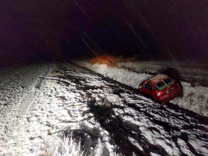 Toinen tieltä suistuminen sattui Himangantiellä lähellä Niskankoskea.
