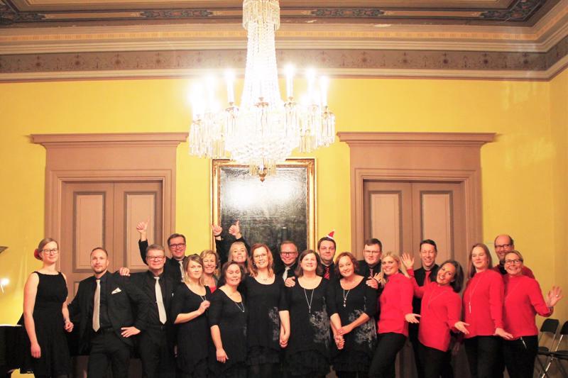 Naiskvartetti Tutti da Capo, mieskvartetti KAJO sekä Lauluyhtye I.S.K.U. konsertoivat jälleen yhdessä.