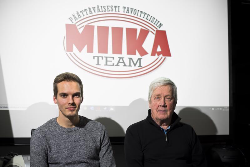 Miika ja Kari Tenhunen kiittävät vuolaasti tukijoiden merkitystä ammattimaisen harjoittelun toteuttamisessa.