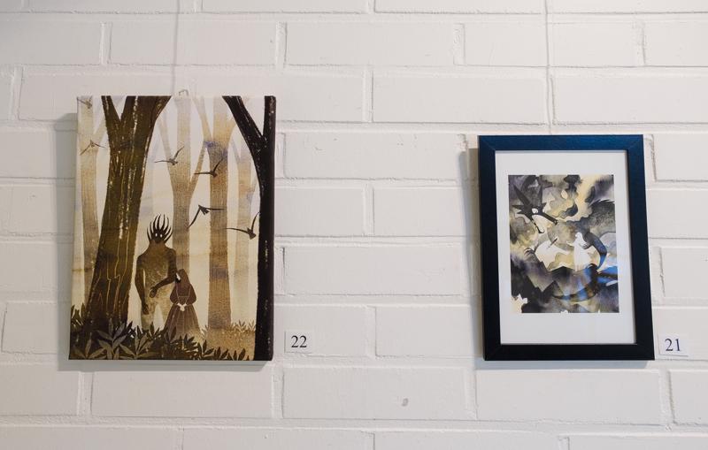 Vasemmalla Aamu-usvan neito (ja kaveri) ja oikealla Lohikäärmeen sydän.