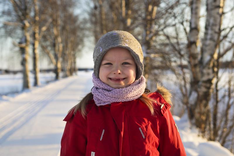 Selma Niskasella on monta mieluista talviharrastusta.