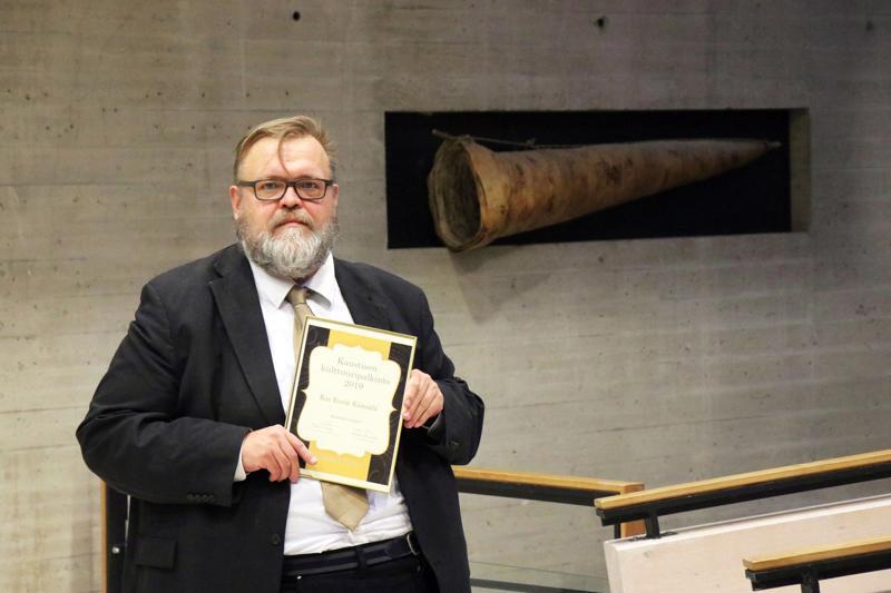 Kai-Eerik Känsälä sai Kaustisen kunnan vuoden 2019 kulttuuripalkinnon.