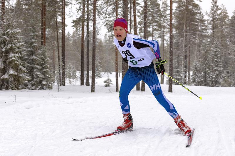 Aino Jylänki hiihti komeaan voittoon Vuokatissa. Kuva arkistokuva.