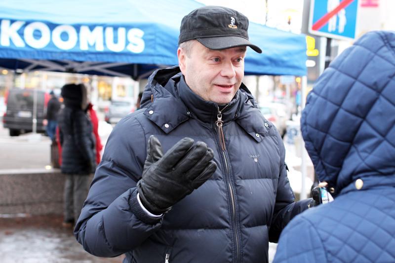Kansanedustaja Janne Sankelo vieraili Kokkolassa lauantaina.