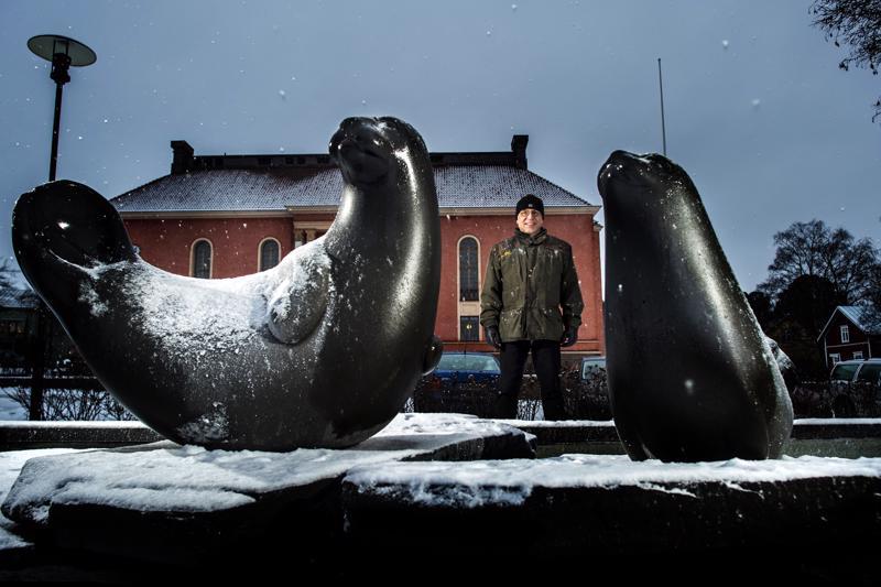 Kokkolan kaupungin täytettäessä 350 vuotta lahjoittivat Outokumpu Oy ja Kemira Oy hyljeveistokset Vartiolinnan eteen. Sampo Purontaus lupaa, että tulevakin juhlavuosi jää kaupunkiin näkyviin uusien patsaiden muodossa.