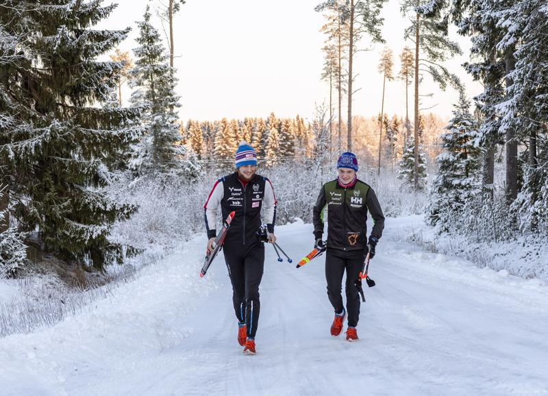 Mattilan veljeksillä, Juusolla ja Jaakolla on aina parasta treeniseuraa.