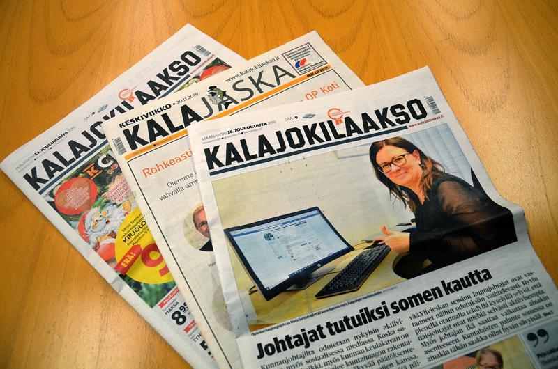 Kalajokilaakson tilattavat maanantain ja perjantain lehdet siirtyivät tabloidiin 2013. Keskiviikon Kalajaska tulee tabloidina 15.1.2020.