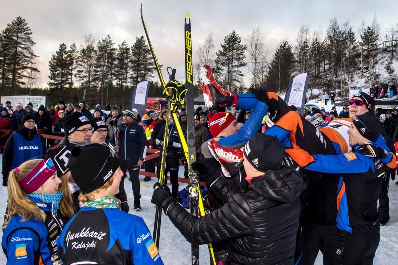 Kalajokiset juhlivat viime sunnuntaina. Tällä viikolla hiihdetään kilpaa Junkkarien kotiladulla.
