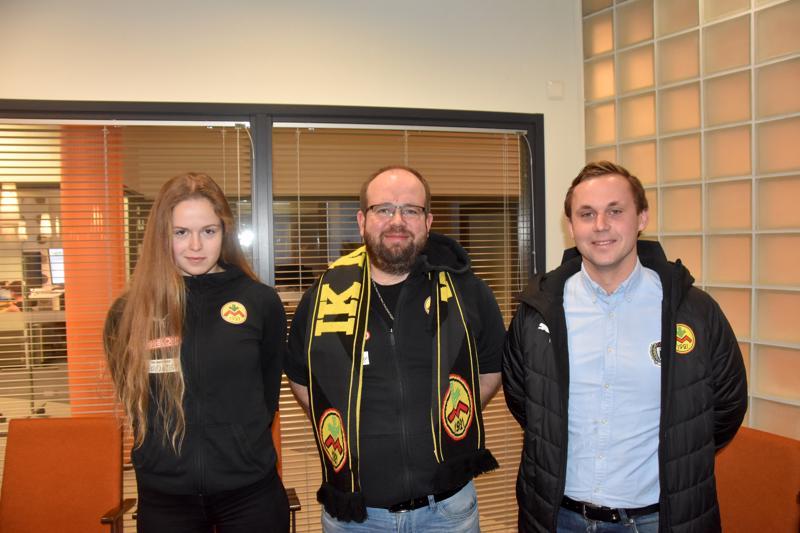 Martin Högnäs (oik.), Magnus Slotte ja Amanda Kass kertoivat Myranin alkavan kauden suunnitelmista.