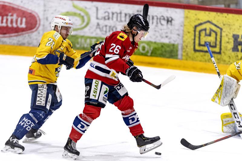 Hermeksen Ville Salorannalle osui muutama hyvä tekopaikka, mutta ei uponnut tällä kertaa.