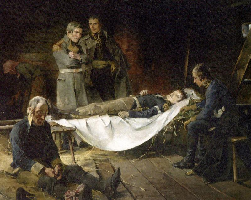 Wilhelm von Schwerin kuolema, Helene Schjerfbeck, v 1886, öljy, 90x117.5
