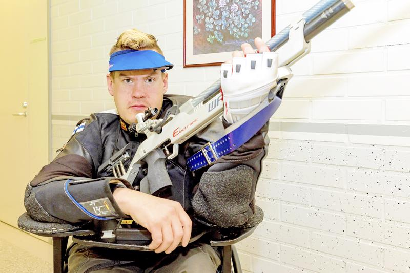 Jarkko Mylly ampui Suomelle maapaikan ensi kesän Tokion paralympialaisiin syksyllä 2018.