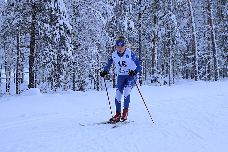 Vilja Pekkala esitti niin Haapajärvellä kuin Kempeleessäkin vahvaa hiihtoa. Arkistokuva.