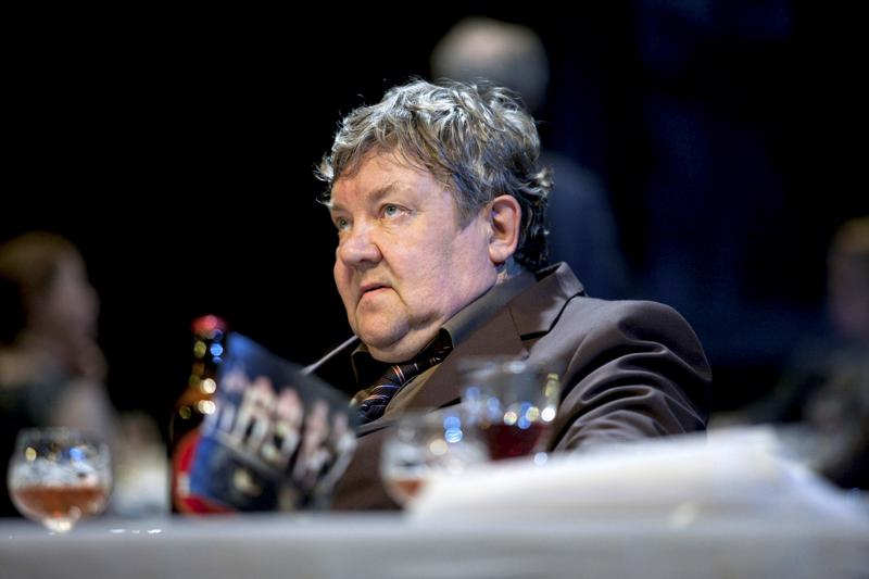 Juha Muje Patriarkka-näytelmässä Kansallisteatterissa vuonna 2012.