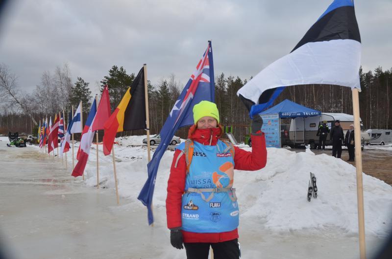 MM-kisojen pääkoordinaattori Enda Pärisma on iloinen jääpurjehtijoiden saamasta vastaanotosta.