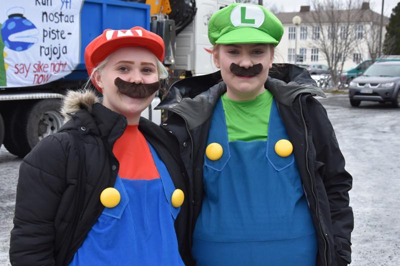 Salaperäiset Mario ja Luigi hienoine viiksineen.
